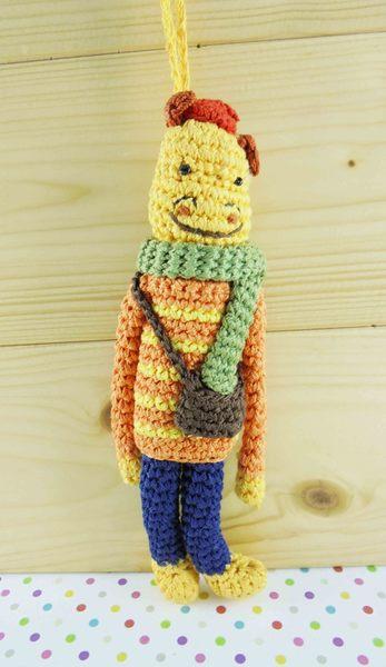 【震撼精品百貨】日本玩偶吊飾~針織材質-龍圖案-橘黃色