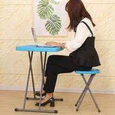 店家推薦摺疊桌椅簡易家用小桌子兒童學習桌書桌餐桌可升降便攜式戶外電腦wy