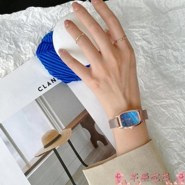 手錶北歐小眾輕奢手錶女款2021年新款簡約氣質ins學生韓版復古石英錶 芊墨