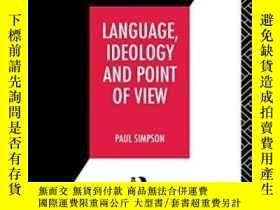 二手書博民逛書店Language,罕見Ideology And Point Of ViewY255562 Paul Simps