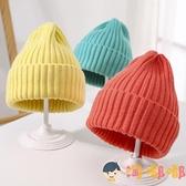 韓版兒童針織帽子糖果色寶寶男女童嬰兒毛線秋冬潮【淘嘟嘟】