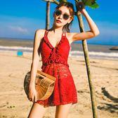 2018新款爆款游泳衣女顯瘦遮肚性感韓國連體裙式時尚保守泡溫泉