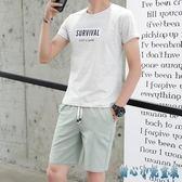 夏季大碼新款休閒男士運動裝潮流韓版帥氣運動服兩件套短袖兩件式褲裝LXY3090 甜心小妮童裝