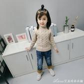 女童冬裝新款1-3-4-5-8歲寶寶加絨牛仔褲兒童長褲子韓版洋氣 艾美時尚衣櫥