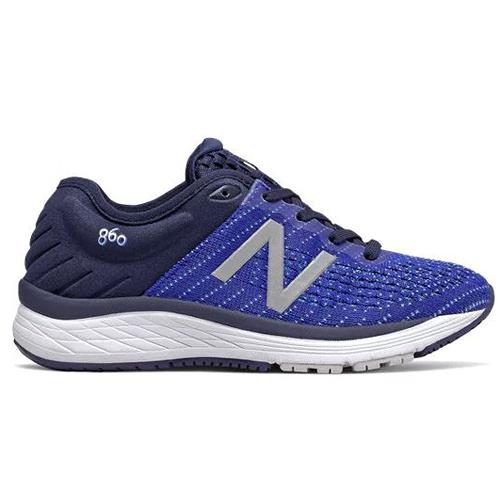 New Balance 860 童鞋 大童 慢跑 寬楦 穩定 緩震 網布 藍【運動世界】YP860B10