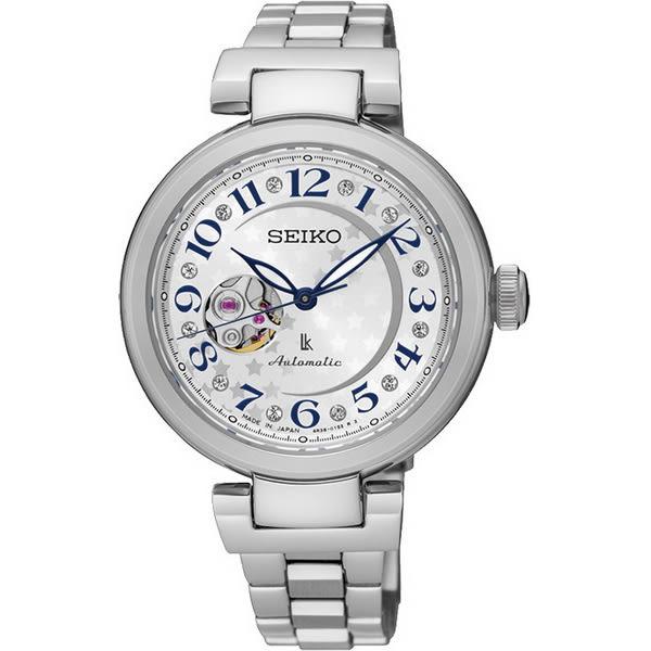 【台南 時代鐘錶 SEIKO】精工 LUKIA 鏤空經典機械錶 SSA829J1@4R38-01L0S 銀 33mm