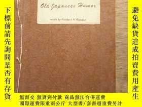 二手書博民逛書店線裝英文書····1959年《Old罕見gapanese Hum