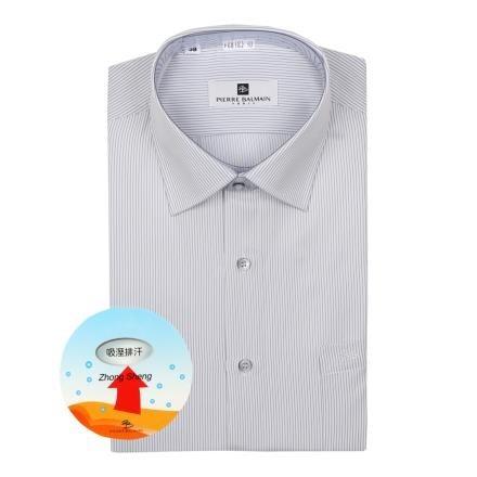 【南紡購物中心】【PIERRE BALMAIN 皮爾帕門】長袖襯衫-吸排黑色細條紋(F1)