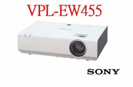 【聖影數位】SONY 索尼 VPL-EW455 簡報投影機 3600流明 WXGA解析度 3LCD