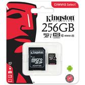 [哈GAME族]免運費 可刷卡●含轉卡●Kingston 金士頓 SDCS 256G 256GB U1 C10 microSDXC記憶卡
