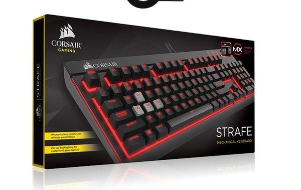 Corsair STRAFE 茶軸/紅燈 中文電競鍵盤