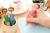 【Miss Sugar】可愛文具批發 韓國款學生創意圓珠筆 卡通女孩玩偶筆(筆芯藍)