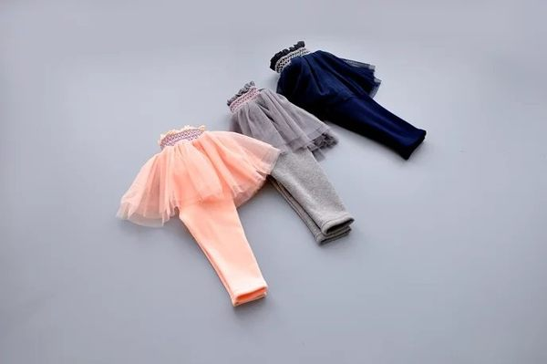 秋冬韓版 保暖不倒絨雙層網紗蕾絲裙假兩件內搭褲.保暖褲~EMMA商城
