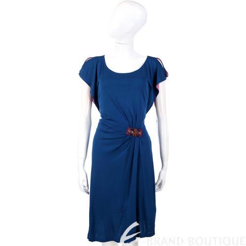PHILOSOPHY 藍色寶石腰飾短袖洋裝 1110292-23