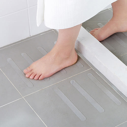 浴室浴缸透明防滑貼 (5條裝) 樓梯台階防滑膠帶 浴室淋浴間地板防滑條