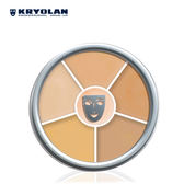 KRYOLAN(歌劇魅影)【即期良品】六色遮瑕盤 40g#3號色
