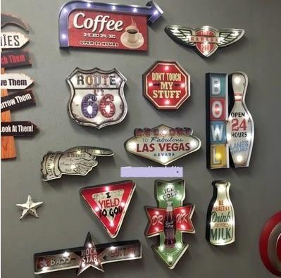 [協貿國際]   壁飾LED燈挂件咖啡廳牆飾  (1入)