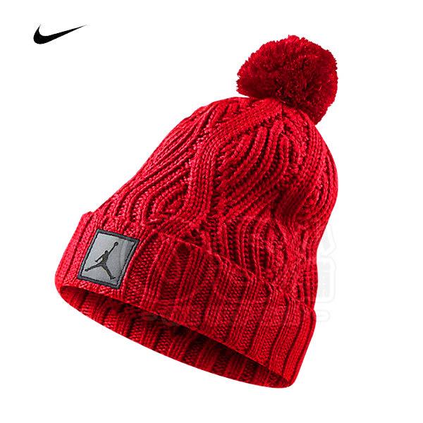 (特價) Nike JORDAN 反折毛帽 801768-687 紅色AIR JORDAN 【代購】