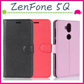 Asus ZenFone 5Q 6吋 ZC600KL 荔枝紋皮套 側翻手機套 支架 磁扣 錢包款保護殼 插卡位手機殼 保護套