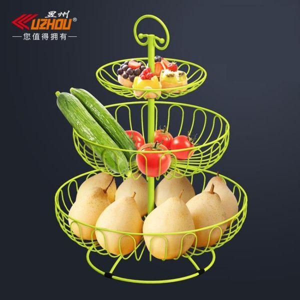 水果搖籃 水果盤籃創意家用歐式現代多功能甜品多層客廳茶幾簡約零食三層架 歐萊爾藝術館