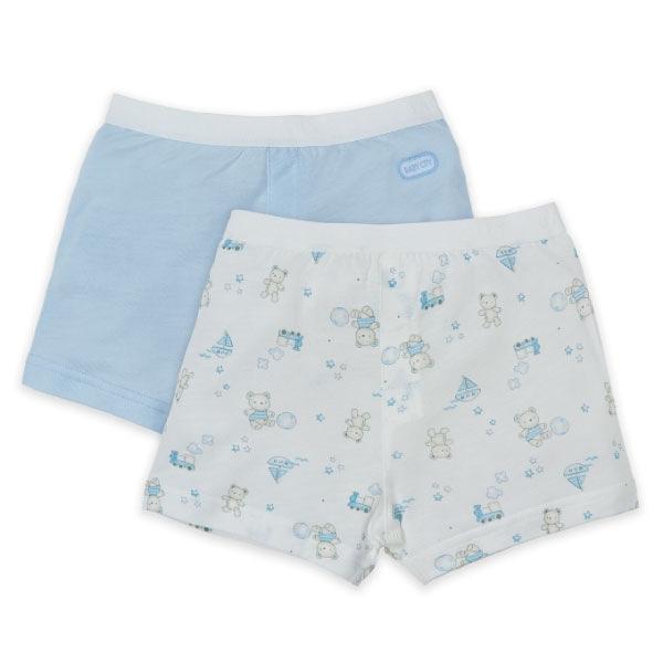 Baby City 玩具熊天絲男童內褲2入 (90-130)