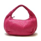 BOTTEGA VENETA 寶緹嘉 桃粉色羊皮半月型肩背包 【二手名牌BRAND OFF】