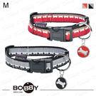 狗日子法國《BOBBY》日安項圈M號 紅卡其/灰黑 休閒時尚新設計 方便扣環 中型犬項圈