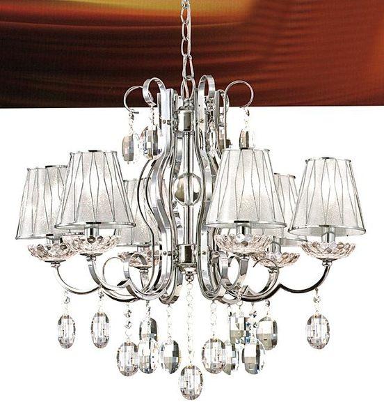 古典銀水晶吊燈─寬66高50─E16 x6【雅典娜家飾】AAM040