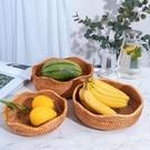 越南藤編田園風手工編織收納籃水果零食面包籃客廳桌面置物籃 Lanna YTL