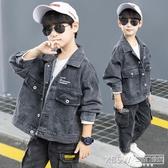 男童牛仔外套2019秋裝新款兒童裝洋氣夾克上衣春秋款男孩帥氣潮裝『新佰數位屋』