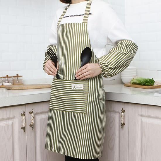 防水圍裙袖套套裝 廚房 防水 做飯 圍裙套裝 防塵 防污 帶袖套 時尚 防油污【J146】♚MY COLOR♚