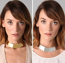 歐美 頸圈項鍊 扣環 五金 鐵片 大項鍊 圓環項鍊 飾品 金色項鍊 銀色項鍊 設計師 髮型師 實體拍攝