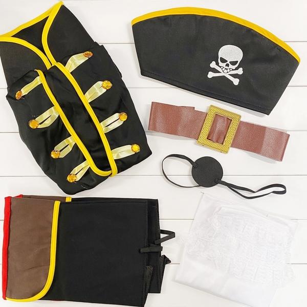 海盜 虎克船長造型服裝 六件組 (不含手上道具) 角色扮演 萬聖節服裝 橘魔法 現貨 扮演 cosplay
