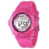 捷卡 JAGA 電子錶 防水 冷光照明 女錶 電子錶多功能 日期 計時碼表 M969-GA 桃粉