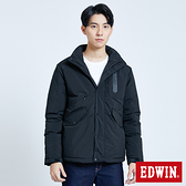EDWIN EFS機織可收帽 防寒外套-男款 黑色