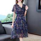中老年媽媽洋裝~大碼洋裝連身裙~9197...