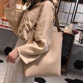 水桶包 單肩大包包女2020新款潮韓版百搭大容量簡約時尚手提包子母托特包