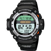 CASIO 卡西歐 多功能戶外運動錶-銀圈 SGW-300H-1AVDR / SGW-300H-1A