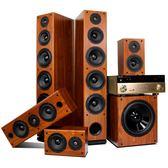 家庭影院音響獅堡新升級4K藍芽木質5.1家庭影院音響套裝DTS客廳HDMI功放機 igo摩可美家