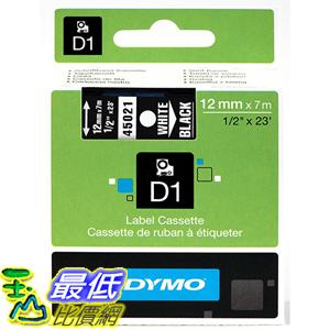 [美國直購] DYMO 45021 High-Performance Permanent Self-Adhesive D1 Polyester Tape for Label Makers 1/2 inch x 23 標籤紙
