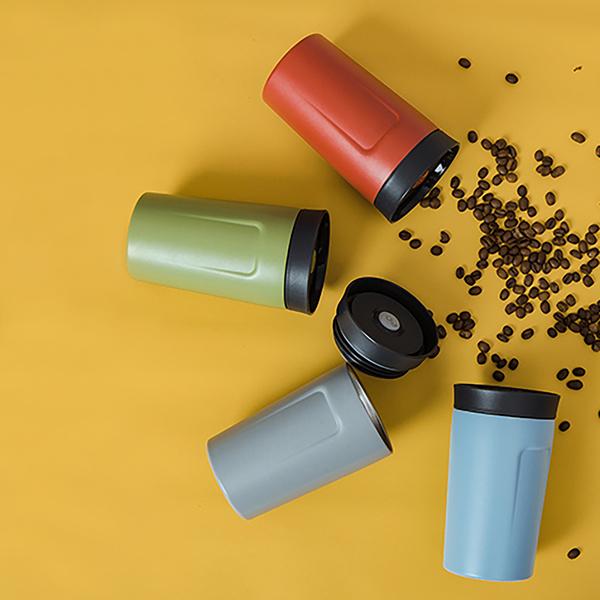 【PO:Selected】丹麥360度飲用隨行保溫咖啡杯350ml(共4色)-附濾網
