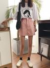 鬆緊腰a字牛仔短裙女夏季韓版學生百搭高腰顯瘦包臀裙純色半身裙  快速出貨