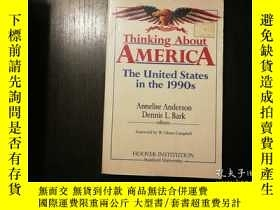 二手書博民逛書店Thinking罕見About America: The Uni