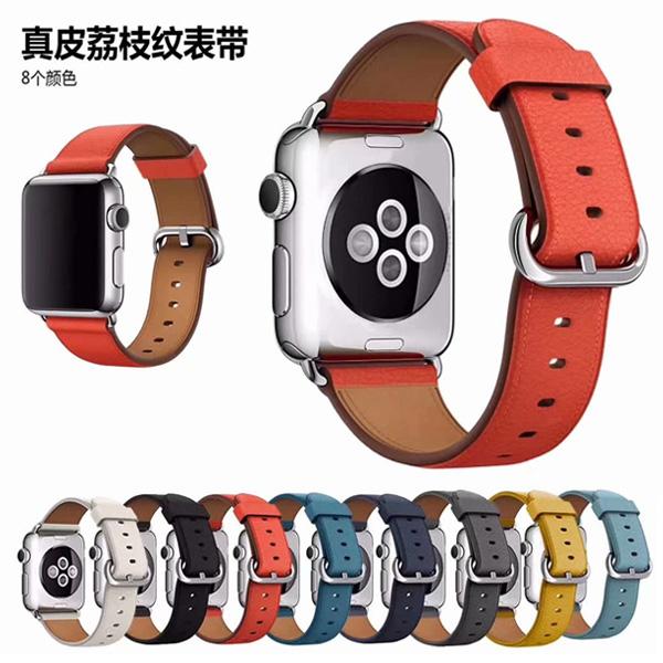 Apple Watch Series 錶帶 S6錶帶 S5錶帶 S4錶帶 S3錶帶 荔枝皮紋 蘋果錶帶 38mm 40mm 42mm 44mm
