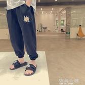 防蚊褲年夏季寬鬆薄款長褲中童冰絲運動褲夏裝男童褲子 海角七號