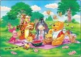 【拼圖總動員 PUZZLE STORY】野餐 日本進口拼圖/Tenyo/小熊維尼/兒童/80P/紙板