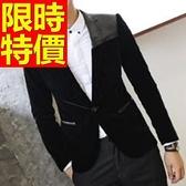 西裝外套 男西服(單外套)-休閒日系氣質新款4色59t39[巴黎精品]