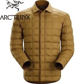 【ARC TERYX 始祖鳥 男 Rico Shacket 花粟鼠棕 羽絨襯衫夾克】 16119/羽絨夾克★滿額送