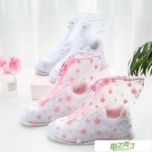 鞋套 可愛卡通雨鞋套女防水雨天防雨鞋子防滑加厚耐磨透明學生雨鞋套 【快速出貨】