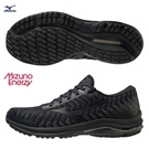 MIZUNO WAVE RIDER 24 WAVEKNIT 男鞋 慢跑 ENERZY中底 黑【運動世界】J1GC207509
